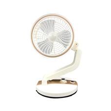 摺疊多角度風扇+LED燈