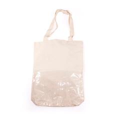 客製化透明隔層帆布袋