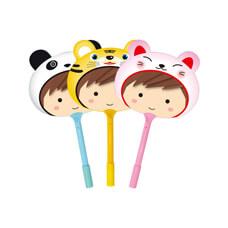可愛娃娃原子筆扇