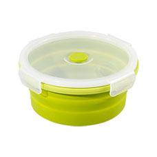 DECO 圓型矽膠摺疊保鮮盒_0.8L
