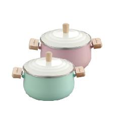 韻采琺瑯雙耳湯鍋