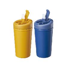 直飲吸管兩用易潔塗層真空雙享杯